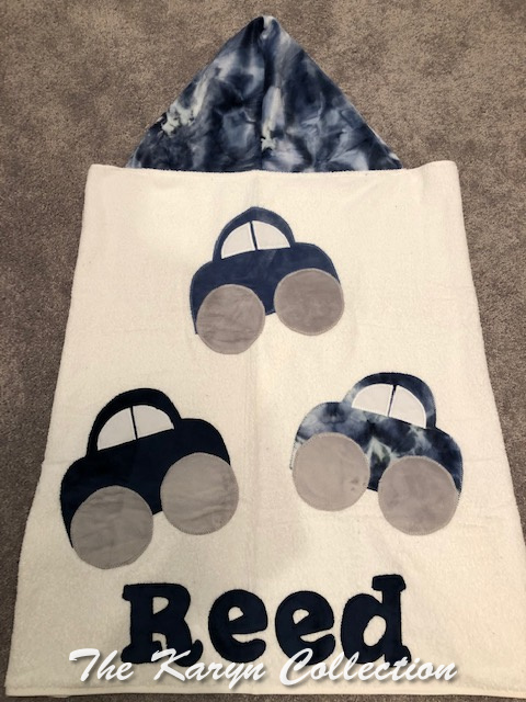 Reed's Cars hooded Towel