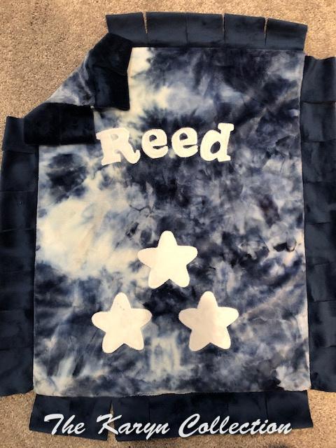 Reed's mini tie dye all star minki blanket
