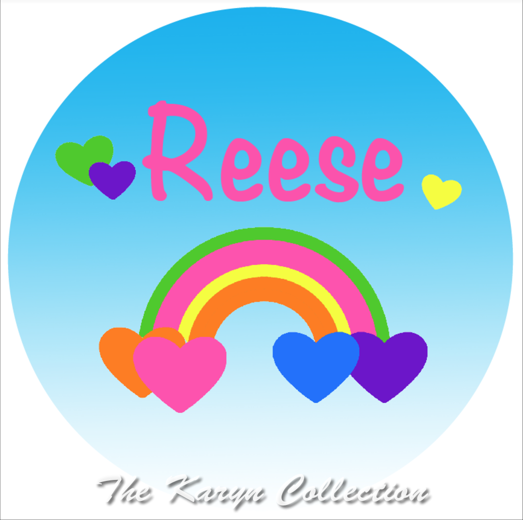Reese's Rainbow and Hearts plate and bowl set