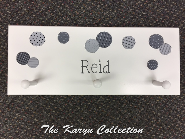 Reid's Patchwork Dots Wall Coat Rack