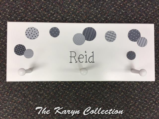 Reid's Patchwork Dots Wall Coat Rack
