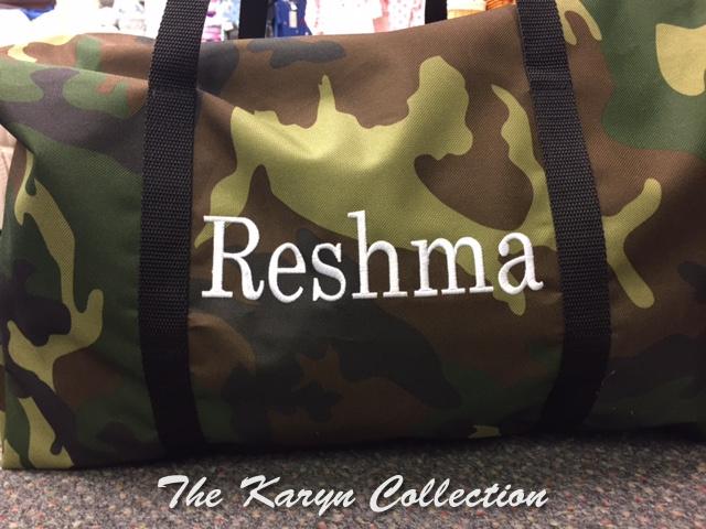 Reshma's  JUMBO Camo Duffle Bag