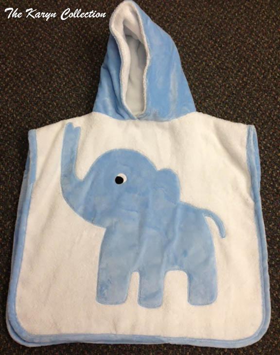 Blue Elephant Poncho