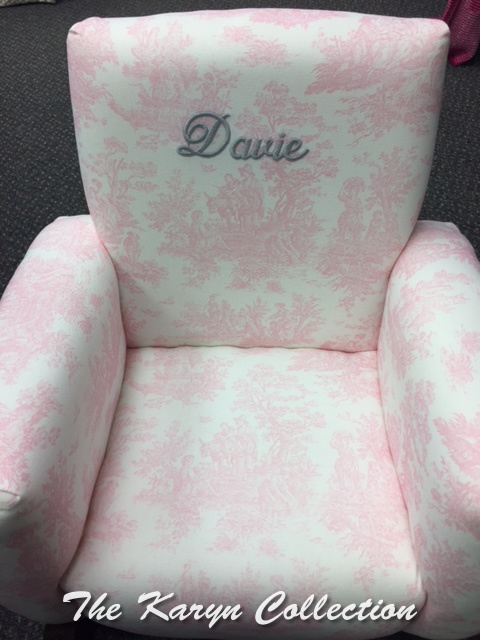 Davie's Toddler Rocker in pink toile