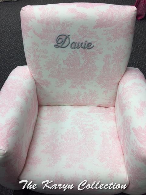 Davie's Toddler Rocker in pink toile