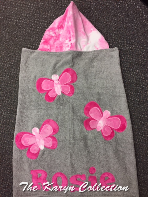 Rosie's Butterfly Toddler Hooded Towel