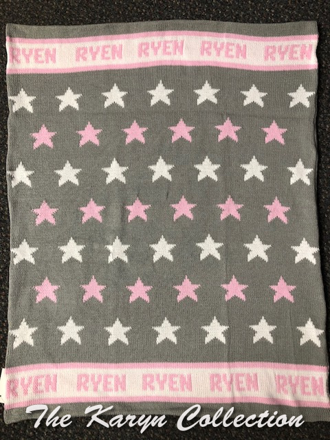 *EXCLUSIVELY OURS - Ryen's all cotton stars blanket (baby cap is available)128