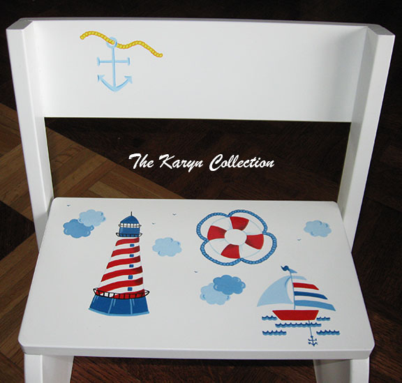 Boating theme.... available on 2 step stool