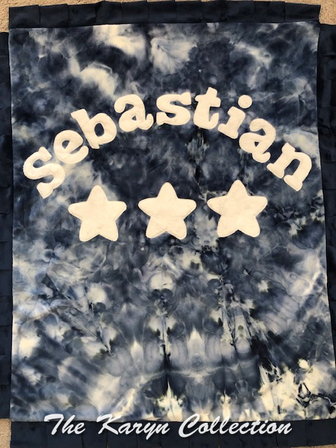 Sebastian's  basic Tiedye Blanket with 3 stars