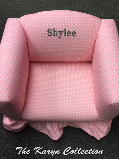 Addison's Pink and White Polka-Dot Chair...( also available in stripe)