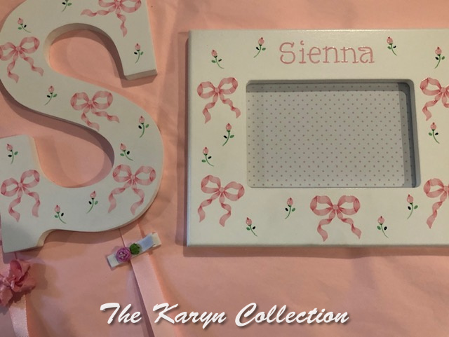 Sienna's 2 piece set with bows and rose buds