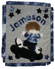 Lil Skater Boy Minky Blanket