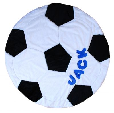 Soccer Ball Shape Minky Blanket