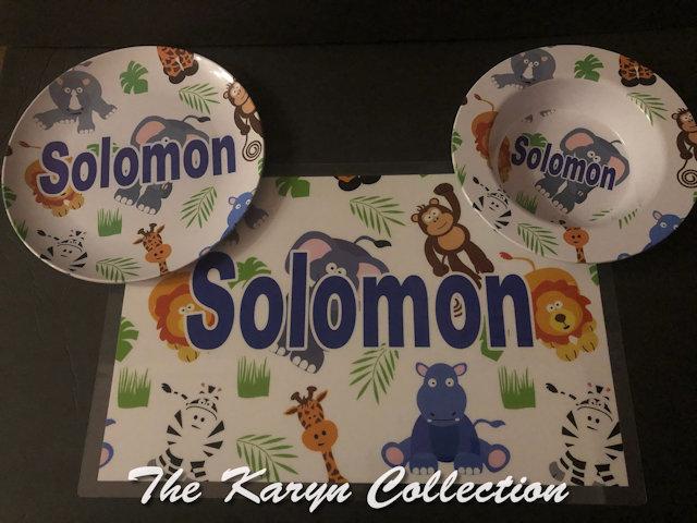 Solomon's 3-Piece Dish Set