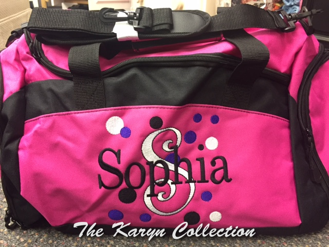 Sophia's Hot Pink Duffle Bag with shoe pocket