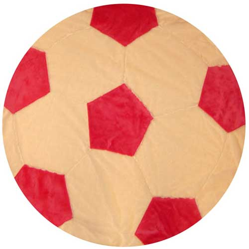 Girl's Soccer Ball Shape Minky Blanket