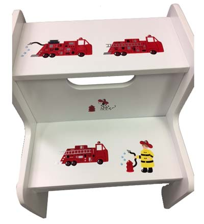 Fireman/Fire Trucks i2 step Stool
