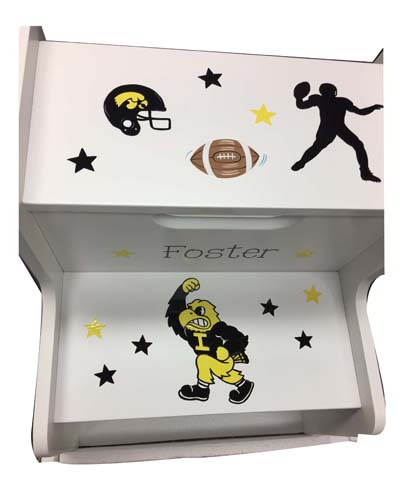 Foster's CUSTOM college themed 2 step stool