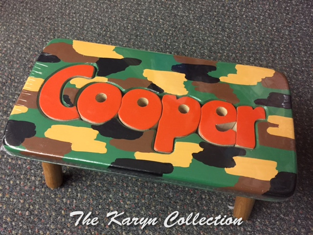 Cooper's Camo  Puzzle stool