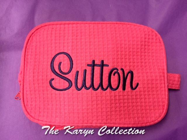 Sutton 2-Zipper Waffle Bag