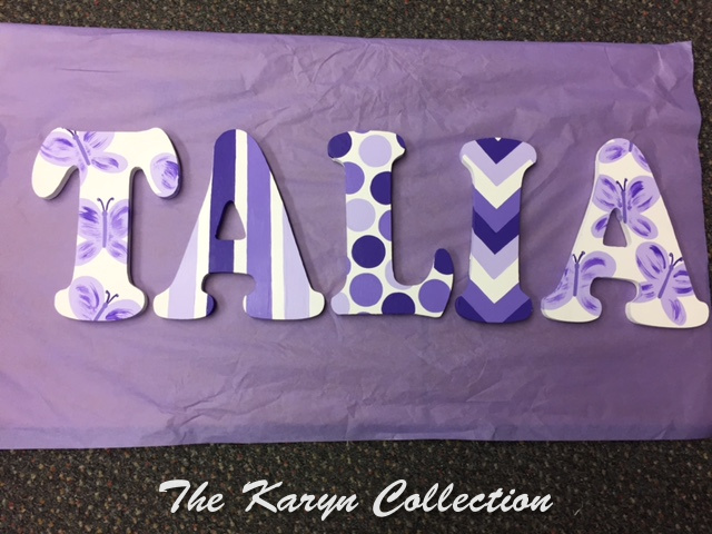 Talia's Purple Wall Letters