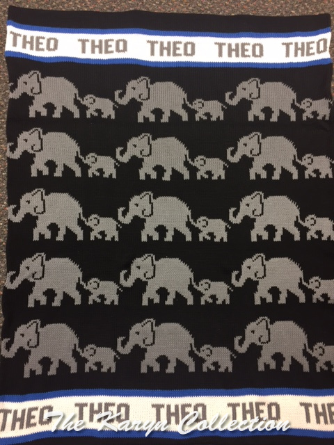 *EXCLUSIVELY OURS...Theo's Elephants COTTON Blanket