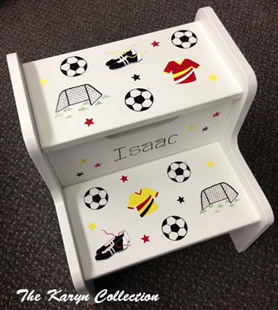 Isaac's All Soccer 2-Step Stool