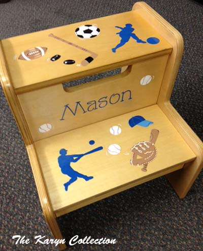 Mason's 2-Step Stool- comes on a white stool ONLY***