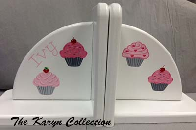Cupcake Bookends...yummy!