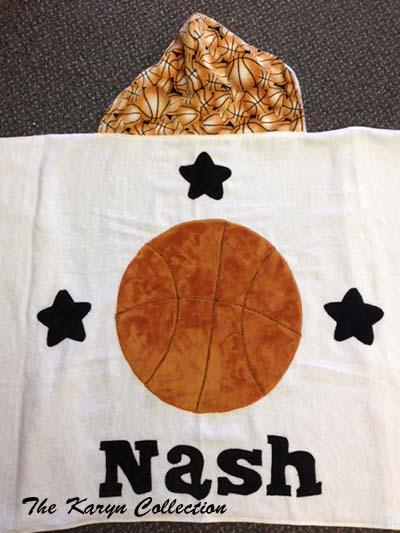 Nash's Basketball Hooded Towel