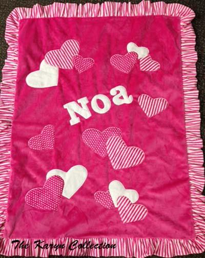 Noa's Multi-Heart Blanket in Brights