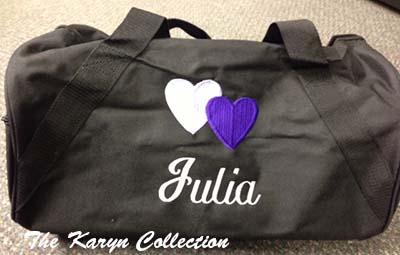 Julia's Black Duffle Bag