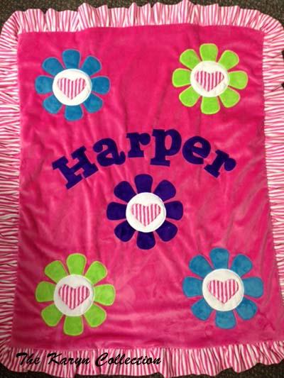 Harper's Daisy Hearts Blanket