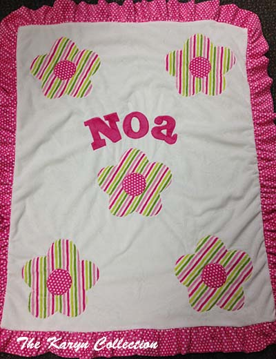 Noa's Dots and Stripes Flower Blanket