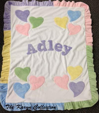 Funky Hearts Minky Blanket