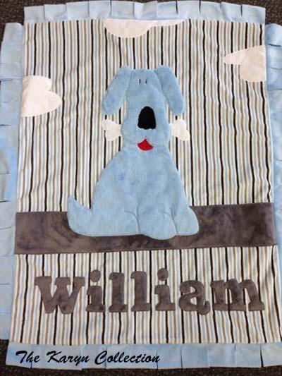 Good Puppy Blue/Gray minky blanket