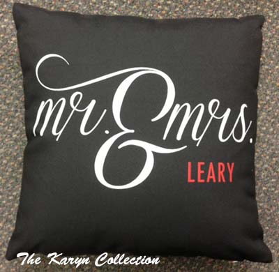 """Mr.& Mrs."" Pillow"