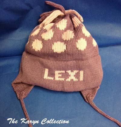 Lexi's cotton Polka Dot Earflap Hat