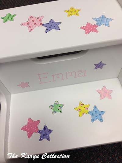 Emma's Patchwork Stars 2-Step Stool
