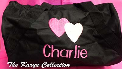 Charlie's Black Duffle Bag