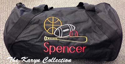 Spencer's Black Duffle Bag