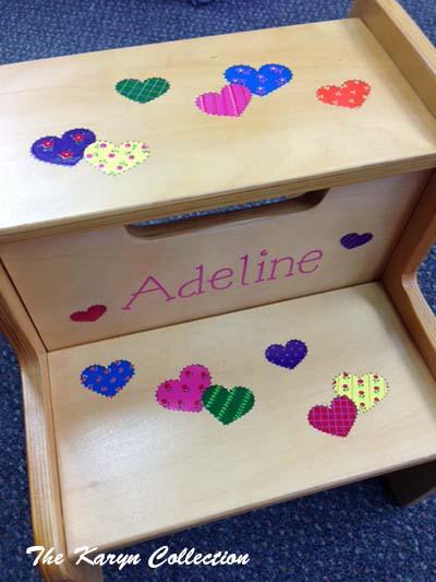 Natural 2-Step Stool - Adeline