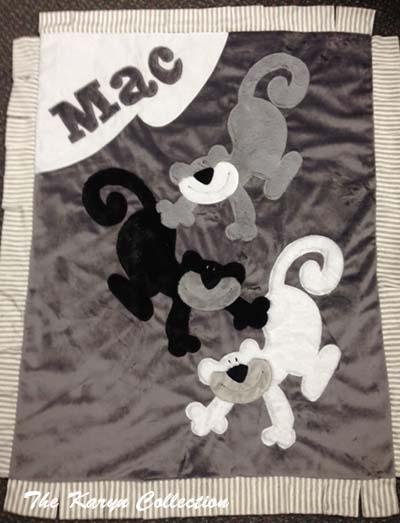 Mac's Three Monkey Blanket