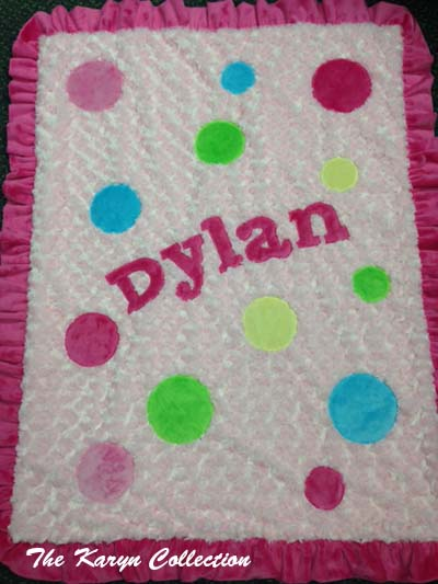 "Dylan's Polka Dot Blanket on ""Curly"""
