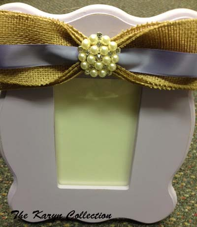 Karyn's Lavender and Burlap Picture Frame