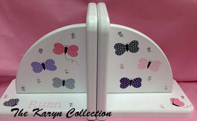 Dotted Butterfly Bookends