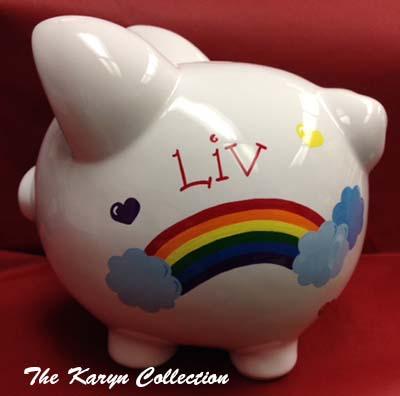 Rainbow Piggy Bank