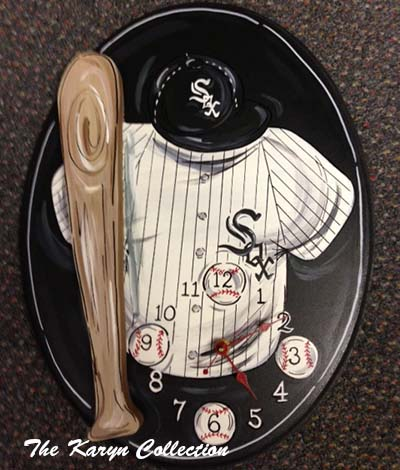White Sox Baseball Oval Clock