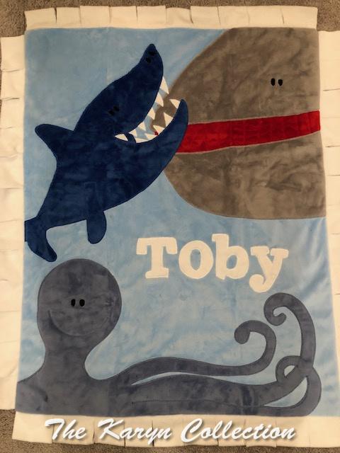 Toby's Sea World minki Blanket
