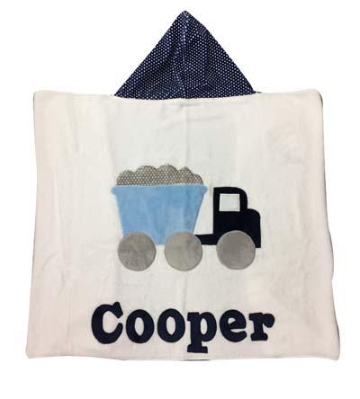 Cooper's Dump-truck toddler towel